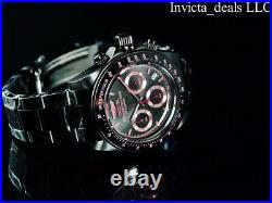 Invicta Men's 40mm SPEEDWAY DRAGSTER Chronograph Black & Pink Tone SS 200m Watch