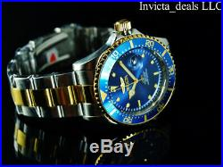 Invicta Men's 43mm Pro Diver SUBMARINER Blue Dial Gold Two Tone 200m SS Watch