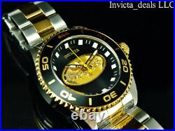 Invicta Men's 44mm DC Comics BATMAN Quartz Black Dial 18K Gold Two Tone SS Watch