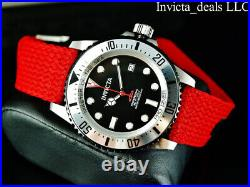 Invicta Men's 44mm PRO DIVER AUTOMATIC NH35A Red Dial Silver Tone Red Band Watch