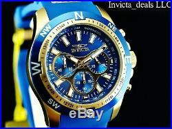Invicta Men's 45mm I Force Quartz Chronograph Sapphire Blue Gold Tone SS Watch