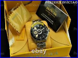 Invicta Men's 45mm PRO DIVER AUTOMATIC OPEN HEART Black Dial Silver Tone Watch