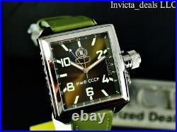 Invicta Men's 45mm RUSSIAN DIVER Swiss Ronda OLIVE GREEN Dial Silver Tone Watch