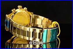 Invicta Men's 45mm Sport Swiss 5030. D Chronograph 18K Gold IP Blue Dial SS Watch