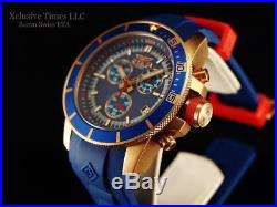 Invicta Men's 46mm Ocean Baron Pro Diver Chronograph Rose Tone Blue Dial Watch