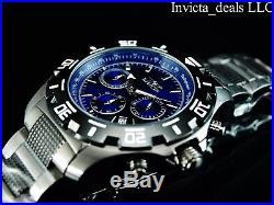 Invicta Men's 46mm Python Chronograph Blue Dial Gunmetal Stainless Steel Watch