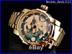 Invicta Men's 46mm Speedway DRAGON Automatic Rose Tone MOP Cultured Dial Watch