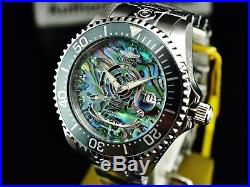 Invicta Men's 47MM Grand Diver Blue Abalone Dial Automatic NH35A Silver SS Watch