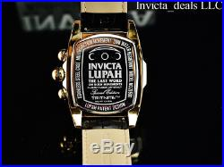 Invicta Men's 47mm Dragon Lupah Swiss Parts Movement GP Gold Dial Leather Watch