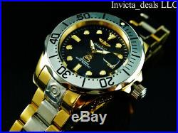 Invicta Men's 47mm GRAND DIVER AUTOMATIC Black MOP Dial Two Tone Gold SS Watch