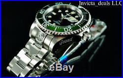 Invicta Men's 47mm GRAND DIVER Automatic Black Dial Green Bezel SS 300M Watch