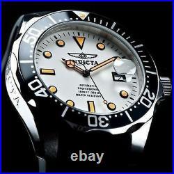 Invicta Men's 47mm GRAND DIVER Automatic NH35A FULL LUME Dial Black Strap Watch