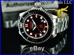 Invicta Men's 47mm GRAND DIVER Gen II AUTOMATIC Black Dial Silver Tone SS Watch