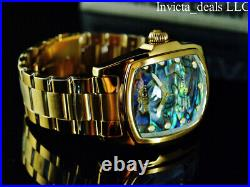 Invicta Men's 47mm GRAND LUPAH ABALONE DIAL Gold Tone Special Edition SS Watch