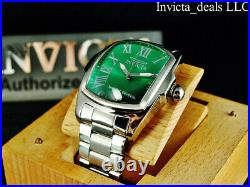 Invicta Men's 47mm GRAND LUPAH GREEN DIAL Silver Tone Special Edition SS Watch