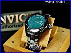 Invicta Men's 47mm Grand Diver RADAR AUTOMATIC Green Tinted Crystal Black Watch