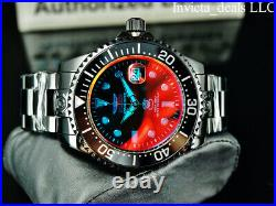 Invicta Men's 47mm Grand Diver RADAR AUTOMATIC Red Tinted Crystal Black Watch