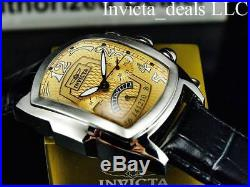 Invicta Men's 47mm Lupah Dragon Chronograph Special Ed Yellow Dial Leather Watch