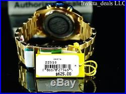 Invicta Men's 47mm Pro Diver Chronograph 18K Gold Plated Blue Dial SS Watch
