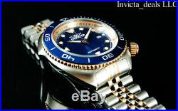 Invicta Men's 47mm Pro Diver SEA WOLF AUTOMATIC Blue Dial Rose Two Tone SS Watch