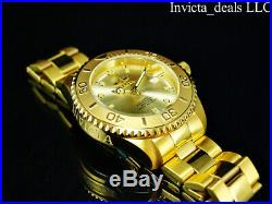 Invicta Men's 47mm Pro Diver SUBMARINER AUTOMATIC Champagne Dial Gold Tone Watch