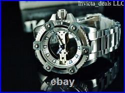 Invicta Men's 48mm ARSENAL GHOST BRIDGE Mechanical SILVER Tone Limited Ed Watch