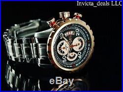Invicta Men's 48mm Aviator Bolt Cockpit Series Chronograph Rose Tone SS Watch