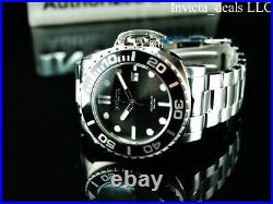 Invicta Men's 48mm Grand Pro Diver AUTOMATIC 24J BLACK DIAL Silver Tone SS Watch