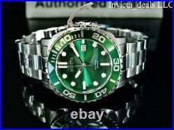 Invicta Men's 48mm Grand Pro Diver AUTOMATIC 24J GREEN DIAL Silver Tone SS Watch