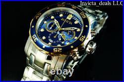Invicta Men's 48mm PRO DIVER SCUBA Chronograph NAVY BLUE DIAL Silver Tone Watch