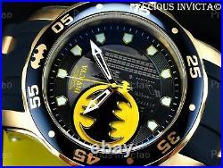 Invicta Men's 48mm PRO DIVER Scuba DC© COMICS GOTHAM CITY BATMAN Strap SS Watch