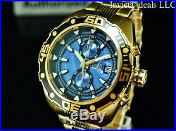 Invicta Men's 48mm Pro Diver Ocean Abyss Chronograph Blue Dial 18K GP SS Watch