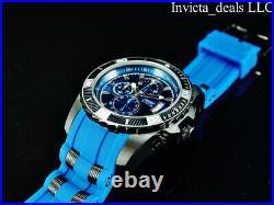 Invicta Men's 48mm Pro Diver SCUBA Chronograph BLUE Dial Blue/Black Tone Watch