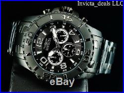 Invicta Men's 48mm Pro Diver SCUBA II COMBAT Triple Black Stainless Steel Watch