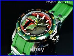 Invicta Men's 48mm Pro Diver SCUBA Star Wars BOBA FETT Limited Edition SS Watch