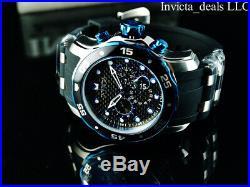 Invicta Men's 48mm Pro Diver Scuba Chronograph Black & Blue Dial Silver SS Watch