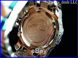 Invicta Men's 48mm Pro Diver Scuba Chronograph Silver Tone Silver Dial SS Watch