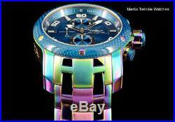 Invicta Men's 48mm ProDiver Scuba BLUE Carbon Dial 1.0 Iridescent Quartz Watch
