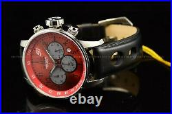 Invicta Men's 48mm S1 Rally Black Strap with Ferrari Red Dial Chrono SS Watch