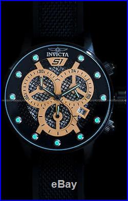 Invicta Men's 48mm S1 Rally Japanese Chronograph Black Stainless Steel PU Watch