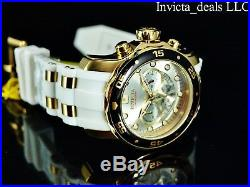 Invicta Men's 48mm Scuba Pro Diver Chronograph Silver Dial Gold Tone SS Watch