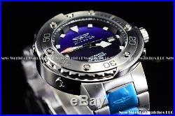 Invicta Men's 49mm Pro Diver Auto Textured Blue Dial SILVER Case Bracelet Watch
