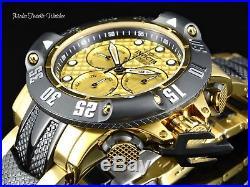 Invicta Men's 50MM Subaqua POSEIDON Quartz Chronograph GOLD TONE Bracelet Watch