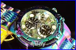 Invicta Men's 50mm Bolt Chronograph Abalone Dial Iridescent Bracelet Watch NEW