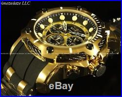 Invicta Men's 50mm Bolt Chronograph Black Dial Gold Plated Stainless Steel Watch
