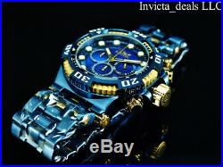 Invicta Men's 50mm CHAOS Chronograph BLUE LABEL Blue Scale Dial SS 300M Watch