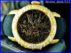 Invicta Men's 50mm Empire Dragon AUTOMATIC Sapphire Crystal Gold Tone SS Watch