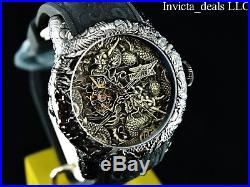 Invicta Men's 50mm Empire Dragon NH38A AUTOMATIC Black IP Sapphire Crystal Watch