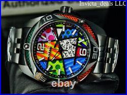 Invicta Men's 50mm MODERN ART OF ROMERO BRITTO Limited Edition Black SS Watch