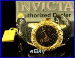 Invicta Men's 50mm Maori DRAGON Automatic 18K Gold Plated Sapphire Crystal Watch